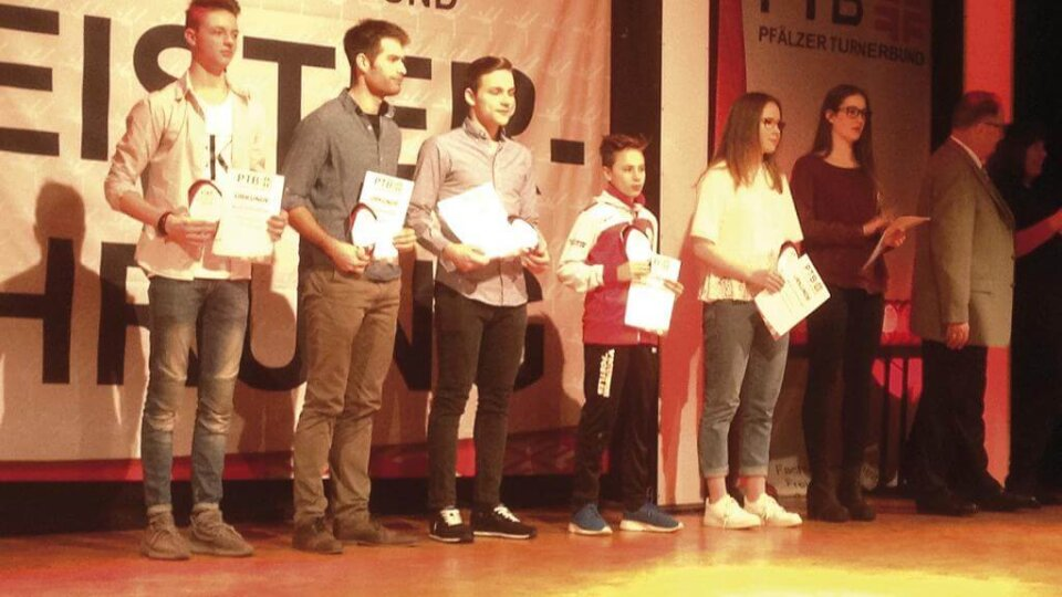 Ehrung für 6. Platz bei den Dt. Jugendmeisterschaften