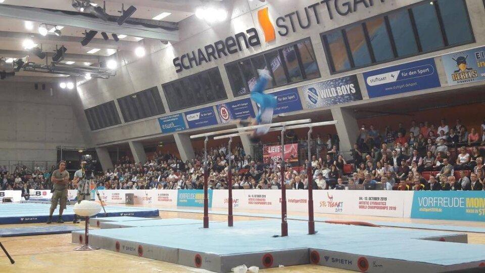 Landauer Turner bei der WM-Qualifikation in Stuttgart