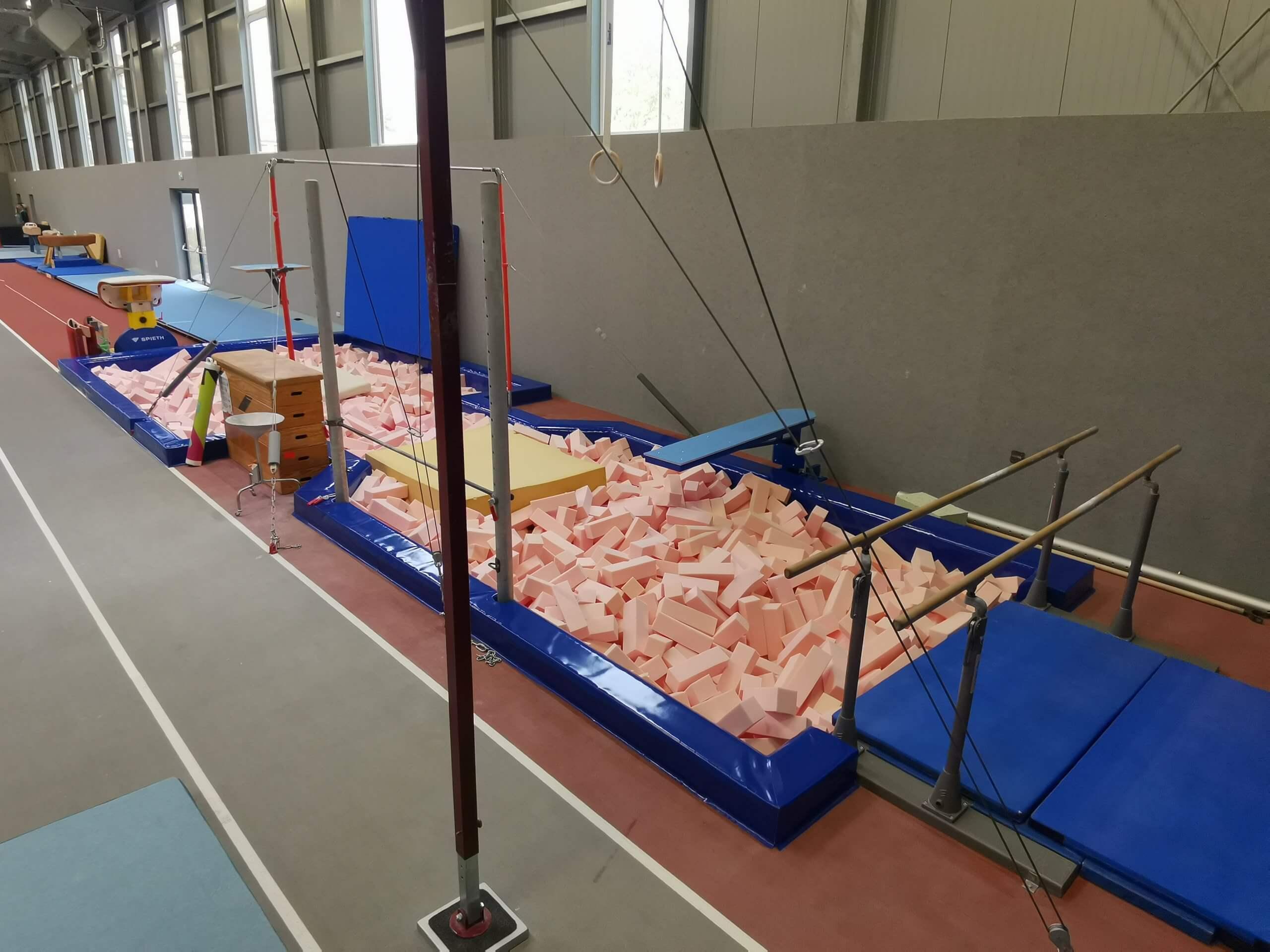 Handwerksarbeiten in neuer Trainingshalle abgeschlossen
