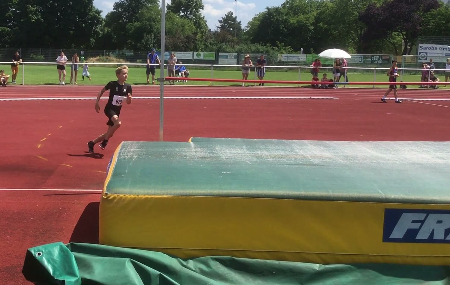 Sprint-Sprung-Wettkampf in Limburgerhof